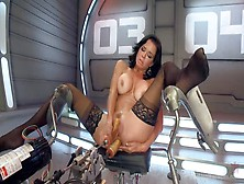Veronica Avluv Gets Double Penetrated By A Sex Machine
