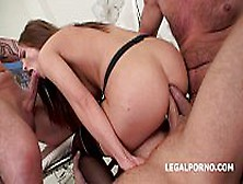 Dap Destination 3On1,  Barking Slut.  Dominica Phoenix Finally Enj