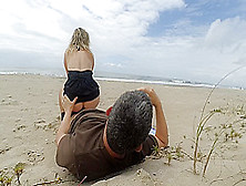 More Real Amateur Public Sex Risky On The Beach !!! People Walki