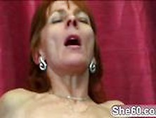 Brunette Granny Gets Her Shaved Pussy Slammed By Young Hard Cock
