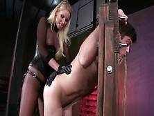 Kinky Blonde Spanks A Guy And Strapon-Fucks Him
