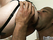 Powerfully Built Black Stud Fucks Proxy Paige Giving Her No Mercy