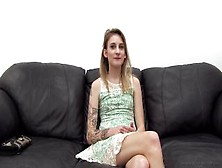 Blonde In Skirt First Anal On A Desk