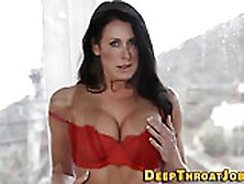Gagging Milf Deep Throats