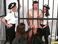 Horny Jailbird Getting Sucked Off By Cfnm Babes
