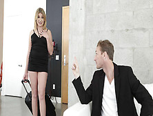 Bimbo Blonde Zelda Morrison Punished Hard By Angry Stepdad