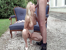 Nikky Thorne Is Sucking The Big Cock Outdoors