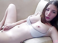 Cute Camgirl Masturbating With Fingers And Vibrator Until She Cums Hard Live On Cam