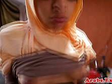 Hijab Wearing Arab Babe Gets Pounded