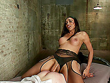 Naughty Dude Has To Moan While Yasmin Lee Drills His Asshole