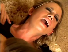 Two Hot Lesbians Caught By Spying Neighbor Get Fucked Hard