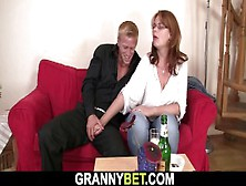 Granny Games With Boozed Sexy Mature Busty Bitch