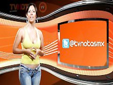 Super Sexy Nathaly Giron Hosting Spanish Tv Show In Tight Jeans