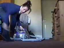 Kelly Hart Plays With Her Vacuum (No Nude)