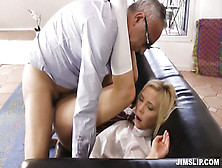 Old Man Fuck Sexy Young Blonde In School Uniform