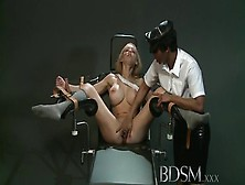 Good-Looking Busty Huzzy Performing In Bdsm Action