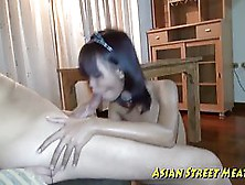 Petite Thai Babe Is Working As A Babysitter,  But She Is Also Getting Money To Get Fucked