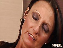 Mature,  Italian Brunette,  Barbara Got Spit- Roasted During A Mmf