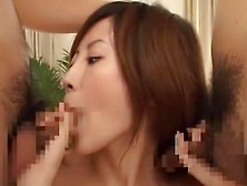 Horny Japanese Model Seri Mikami In Best Threesome,  Cunnilingus