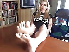 Blonde Feet Joi