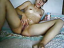 Emotional Quite Flexible And Horny Brunette Masturbates Her Wet