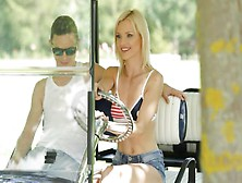 Golf Cart Blowjob By Hot Blonde Teen Spinner