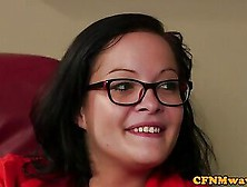 Spex Cfnm Babes Blowing Cock Until Cumshot