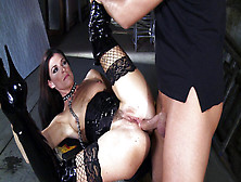 India Summer In A Long Leather Boots Enjoys Deep Anal Penetratio