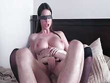 Blindfolded Hottie Brooklyn Chase Fucks Her Lover In Bed