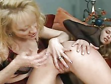 Old & Young - Milf Spanks Then Fucks Teen