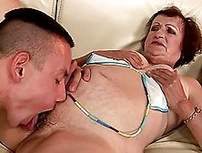 Kinky Dark-Haired Granny Eve Tickler Gets Her Hairy Snatch Licke