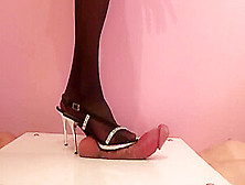 High Heels Trample And Tease Cock And Ball On Cockbox