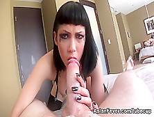Exotic Pornstar Asphyxia Noir In Amazing Blowjob,  Emo Porn Video