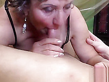 Chubby Granny Gets Her Hairy Twat Plugged