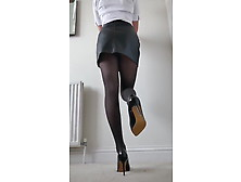 Legs In Nylons And Heels