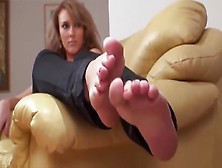 Feet Play On Couch