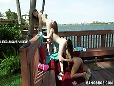 Horny Lesbians Aurielee Summers,  Luna Star And Natalie Lust Beco