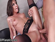 Seductive Brunette,  Henessy Is Getting Fucked In The Office In B